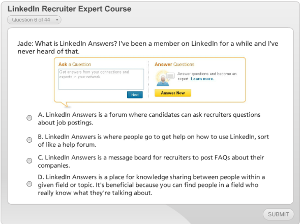 More references to LinkedIn Answers which no longer exists
